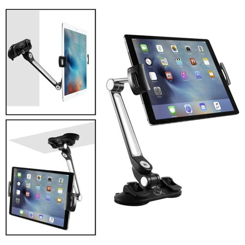 Luxitude 2-in-1 Tablet /& Phone Holder Stand E-Reader Tablets Suction Cups /& 360
