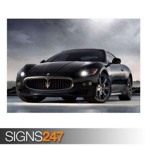 AA673 Maserati Coche 2 cartel de auto-foto imagen arte cartel impresión A0 a A4