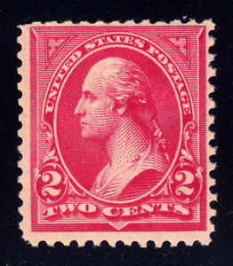 #266 - 2c Carmine Washington, BEP, Perf. 12, Wmk. 191, Type II, MNH - 1895
