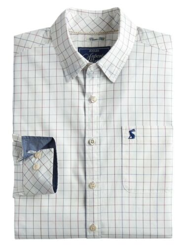 Joules Wilby Men/'s Oxford Shirt UK Sizes M-XL Cream Check SALE 30/% OFF