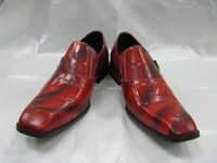 Fiesso Red Leather W/ Buckle Slipon Shoes Fi 8214
