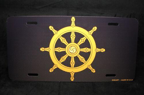 DHARMA WHEEL METAL LICENSE PLATE FOR CARS BUDDHIST BUDDHISM BUDDHA Dharmachakra