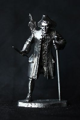 "Pirate ""Long John"" Silver Tin toy soldier 54 mm., figurine, metal sculpture."