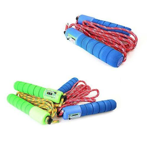 Children Kids Skipping Rope With Counter Jump Fitness Exercise Fun Soft Handle
