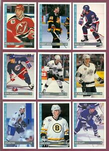 1992-93 OPC O PEE CHEE NHL HOCKEY CARD 1 TO 132 SEE LIST
