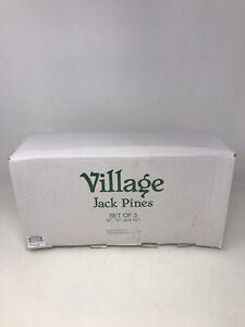 Dept-56-Village-Jack-Pines-9-034-12-034-15-034-Set-of-3-Trees-52622-W-Extras-6-Total