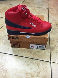 Details about Mens Fila F13 F 13 Classic Mid High Top Basketball Shoes Sneakers Red
