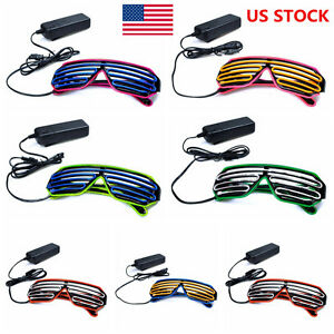 us el wire glasses light up grow led glasses eyeglasses neon shutter rh ebay com With a 3 Way Switch Wiring Multiple Lights Wiring Up a Race Car