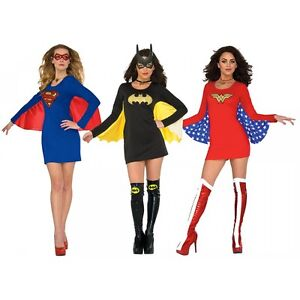 Image is loading Female-Superhero-Costumes-Adult-Halloween-Fancy-Dress  sc 1 st  eBay & Female Superhero Costumes Adult Halloween Fancy Dress | eBay