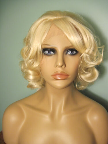 """10"""" curly light blonde lace front hand tied wig - Tippi"""