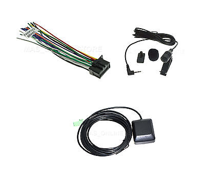 WIRE HARNESS GPS ANTENNA & MICROPHONE FOR KENWOOD DNX691HD DNX-691HD | eBayeBay