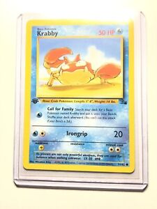 Krabby Fossil 51//62 Common Pokemon Card NM