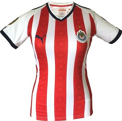 quality design ab224 7d074 Chivas Home Women Soccer Jersey Shirt with Champions Liga MX Patch New PUMA  | eBay