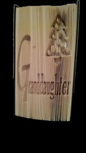 Granddaughter Christmas Folded Book Art Folding PATTERN ONLY #3024