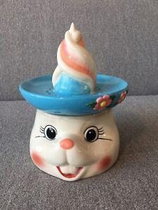 Ceramic Cracker Barrel Bunny/Rabbit Juicer/Flower Vase Gift