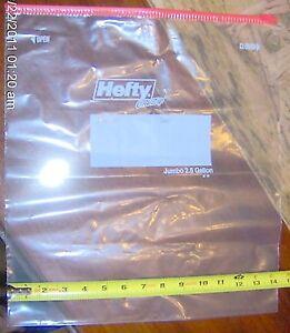 1 Hefty 2 5 Gallon Jumbo Slider Bag Big Plastic Storage