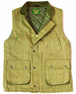 Men-Derby-Tweed-Waistcoat-Winter-Derby-Hunting-amp-Shooting-Bodywarmer-Gilet-M-2XL
