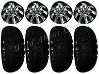 Golf Cart Wheels & Tires Rims Machined & Black 10 Wheel All Terrain 22/11-10