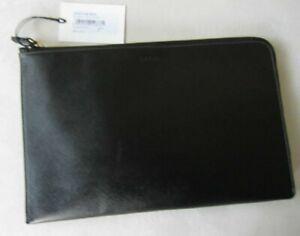 Paul Smith PS BLACK  11 inch Safiano Leather iPad case Mac Book Cover
