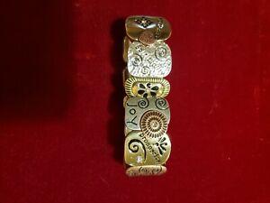 Family Joy Prosperity silver gold bracelet
