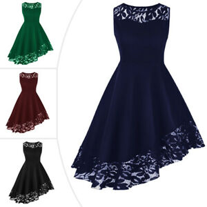 Details about Women Formal Dresses Plus Size Sleeveless Irregular Evening  Ball Prom Gown Dress
