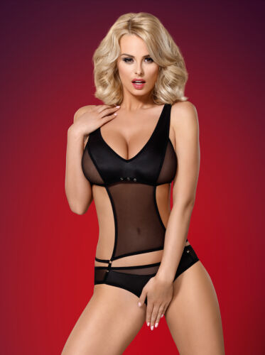 Sexy ouvert Passage 823 Lingerie Noire Obsessive Teddy Ted corps ᄄᄂ OZulPkXiwT