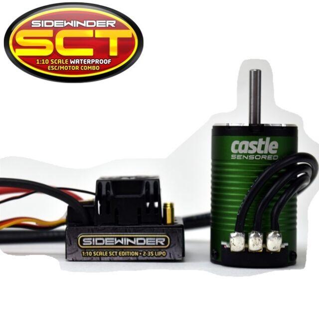 Castle Creations 1/10 SCT Sidewinder WP ESC + 1410 3800kv Sensored Motor  COMBO