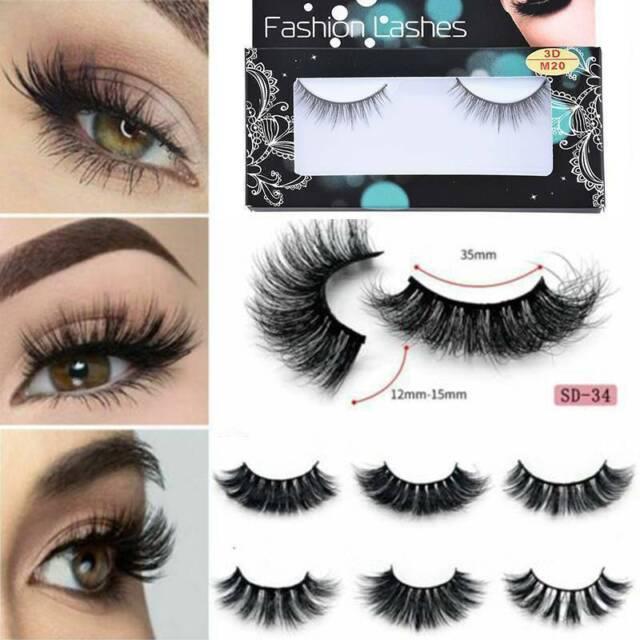 3D Mink Eye Lashes Natural Long False Eyelashes Volume Fake Lashes Extension
