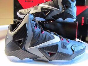 Nike-Lebron-XI-11-MIAMI-NIGHTS-Black-Silver-Pink-CARBON-FIBER-616175-003-elite-8