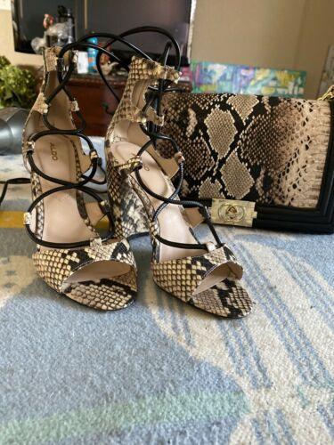 Aldo Shoes Faux Snakeskin With Matching Purse
