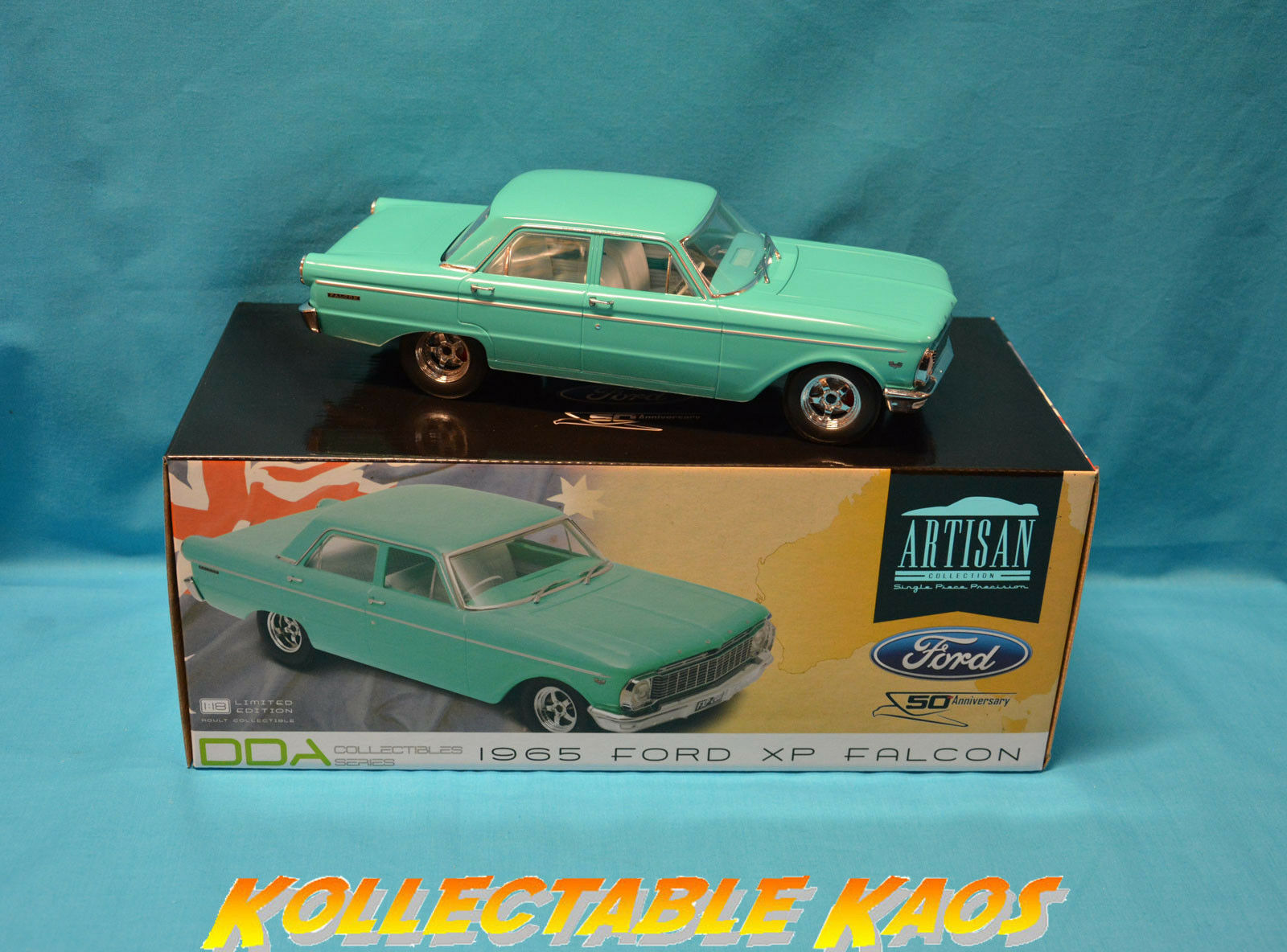 1 18 DDA - 1965 4-Door XP Ford Falcon Sedan in Turquoise