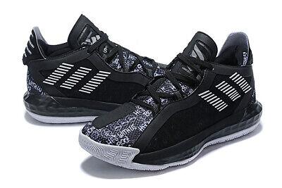 Adidas D Lillard 6 Dame 6 Nba Hecklers Black White Basketball Shoes Fu6807 New Ebay