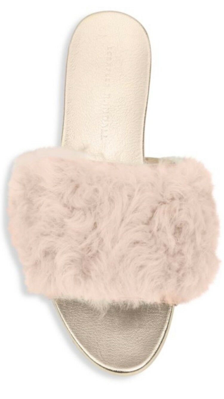 Loeffler Randall DOMINO ROSE/OR ROSE Shearling diapositives Taille RRP RRP RRP 1ff576
