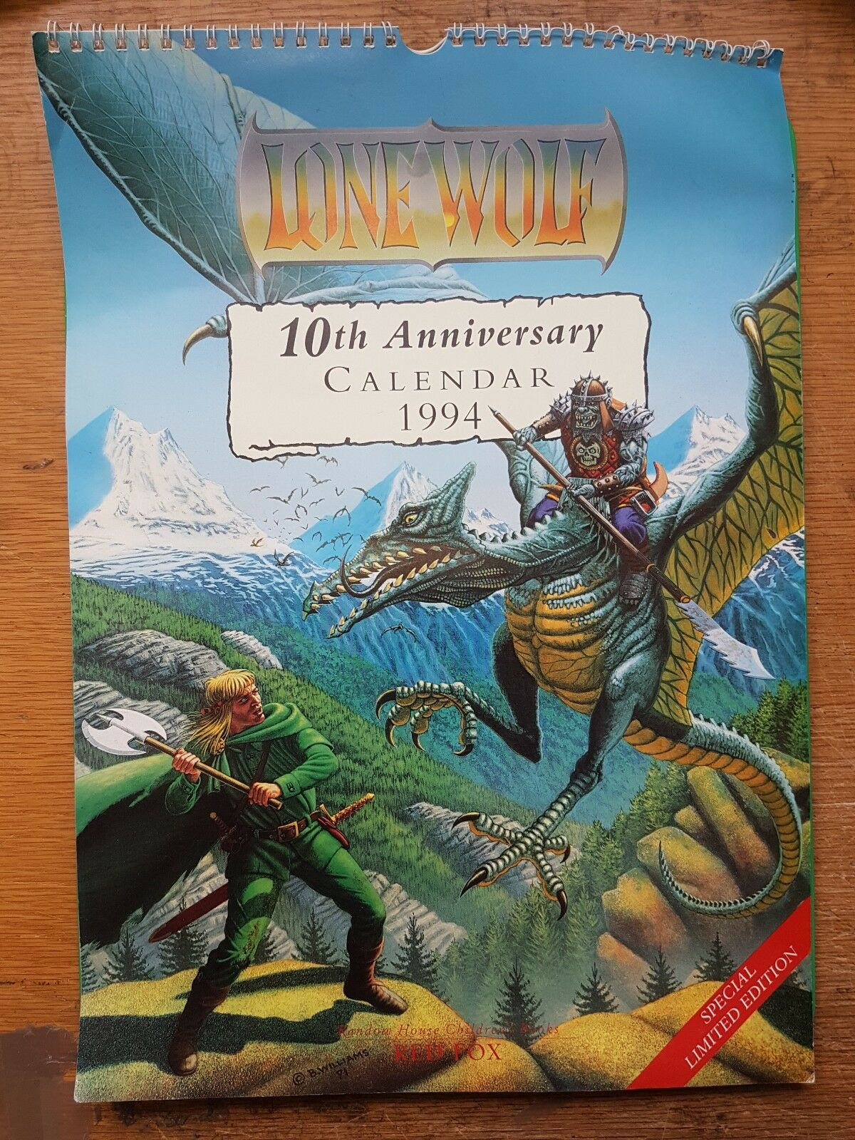 Édition Limitée Lone Wolf 10th Anniversary Calendrier Avent 1994 - Joe