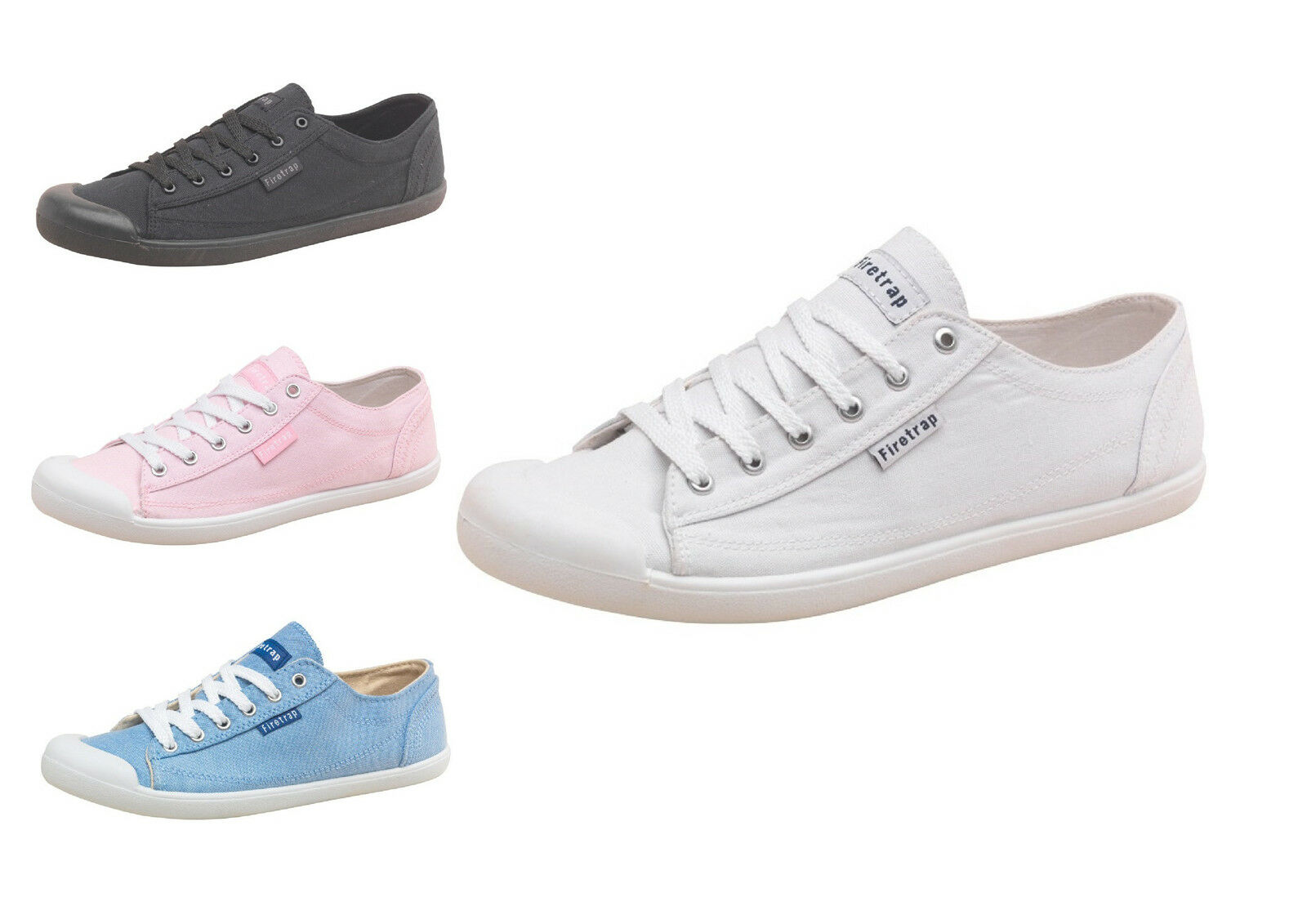 Firetrap Womens Plimsolls, Shoes, Womens Firetrap Canvas Shoes, Plimsolls, Pumps Plimsolls-GENUINE c282a1