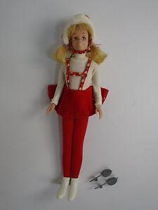 1963 Barbie Skooter Doll Skippers Friend Dressed Ice Skating Fun Outfit Mattel