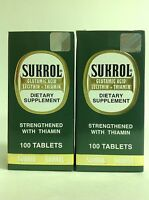 2 Sukrol Dietary Supplement 100 Tabs Each / Suplemento Alimenticio Sukrol