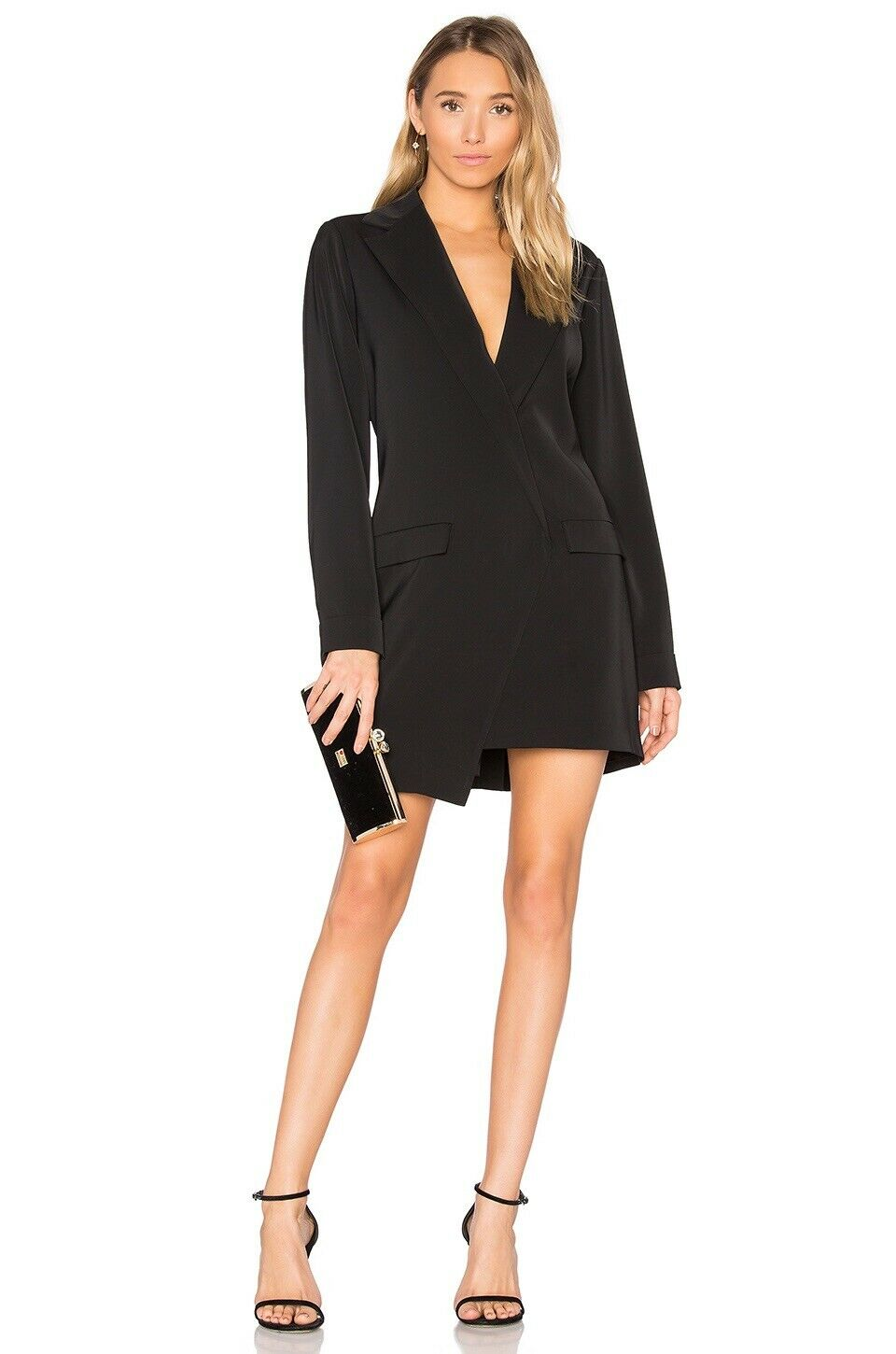 NWT MPC Blazer Mini Dress Faux Blazer schwarz MINKRosa M