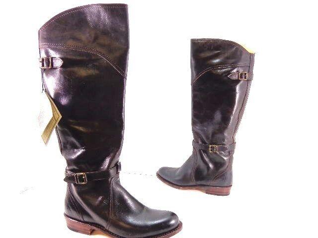 Women's Frye Dorado 77561 Leather Riding Boots Dark Brown Size 6 M