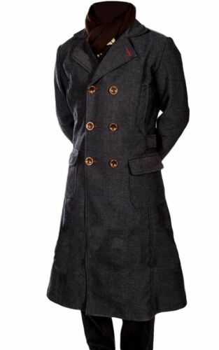 Sherlock Holmes-Lana Lungo Inverno Uomo Cape Cappotto Giacca Cosplay Costume