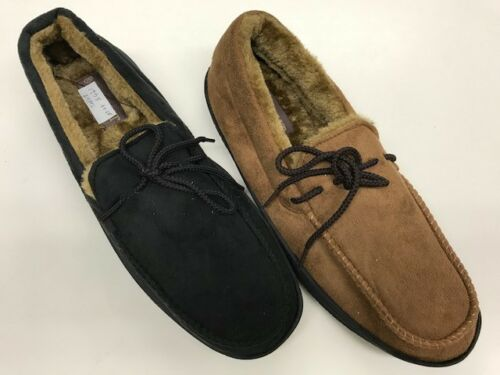 1758 Soft Furry Warm Comfy Men Winter Moccasin Slippers Slip On Indoor Outdoor
