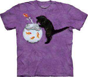 Fishin-Kitten-Cat-Shirt-Mountain-Tee-In-Stock-Black-Kitty-amp-Goldfish-Sm-5X