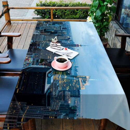 3D City dark88 Tablecloth Table Cover Cloth Birthday Party Event AJ WALLPAPER AU