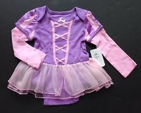 Disney Store Tangled 2 Years 2t Rapunzel Cuddly Skirted Bodysuit Costume