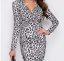 India-Midi-Dress-Long-Sleeve-Ruched-Midi-Dress-Animal-Print-8-16 thumbnail 3