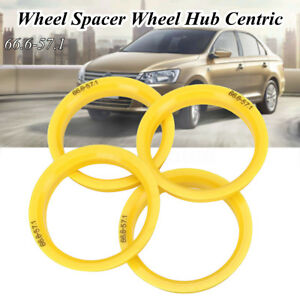 4-WHEEL-SPACER-Centro-rubinetto-HUB-Centric-Rings-66-6mm-57-1mm-per-VW-Audi-Skoda