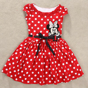 Toddler minnie mouse cartooncute dress party bow dress costume ebay