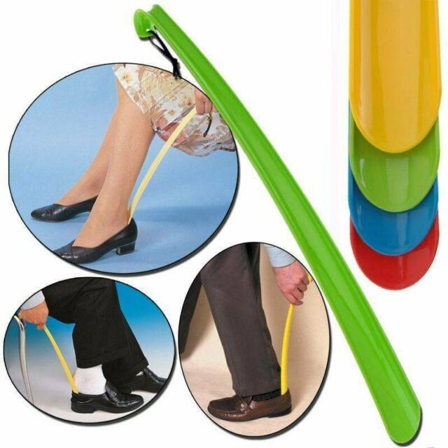 3x Convenient Shoe Horn Extra Long Plastic Boot Mobility Easily Slip On Shoes OR