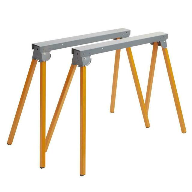 Sawhorse Stand Folding Metal Steel Frame Durable Heavy Duty Light Weight Sturdy