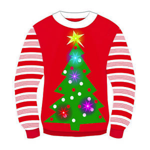 Details about Forum Novelties Adult Tis The Season Light Up Ugly Christmas Sweater, 75848 L